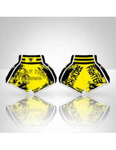 Muay Thai Shorts - Chock Dee Fighters - Giallo